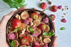 Mini pancakes z owocami