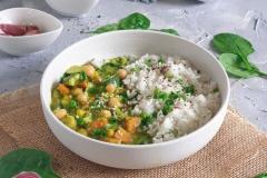 Zielone curry z ryżem