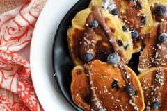 Śniadaniowe placki z czekoladą