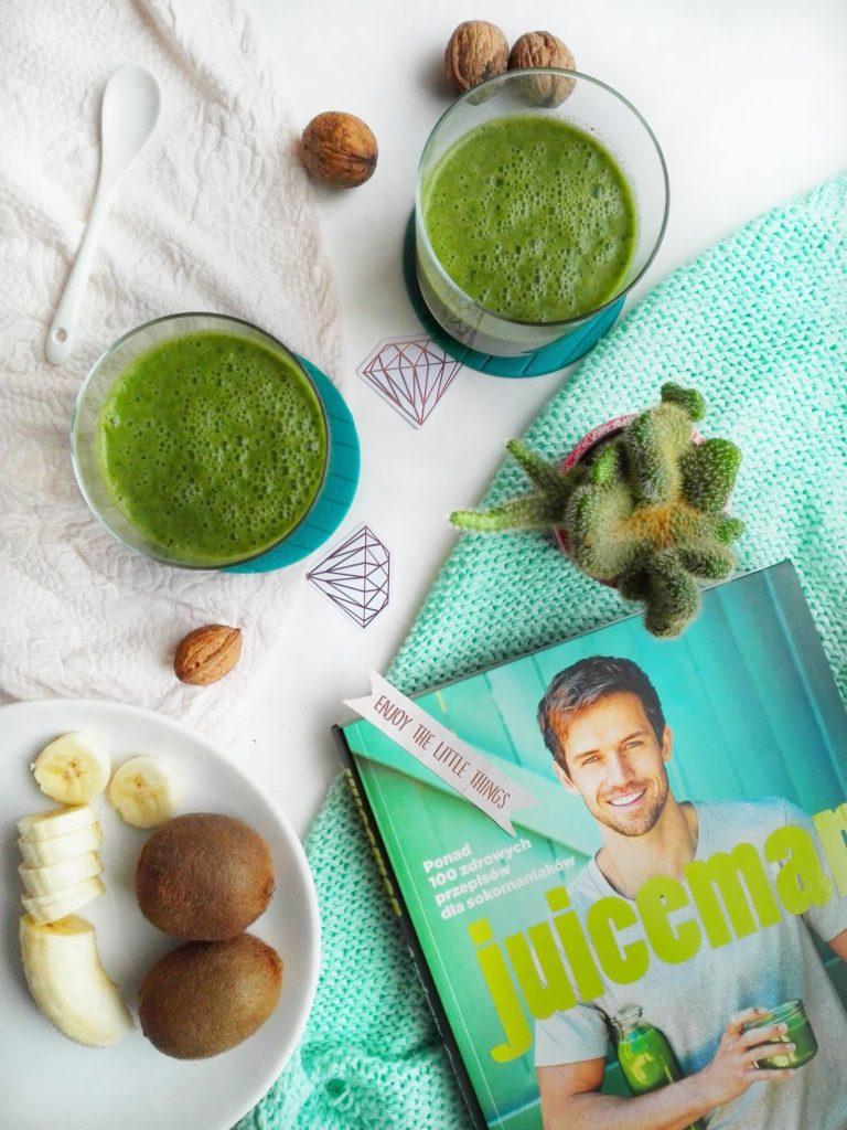 Zielone koktajle, pomysł na pyzne sniadanie ze świeżych, zdrowych produktów