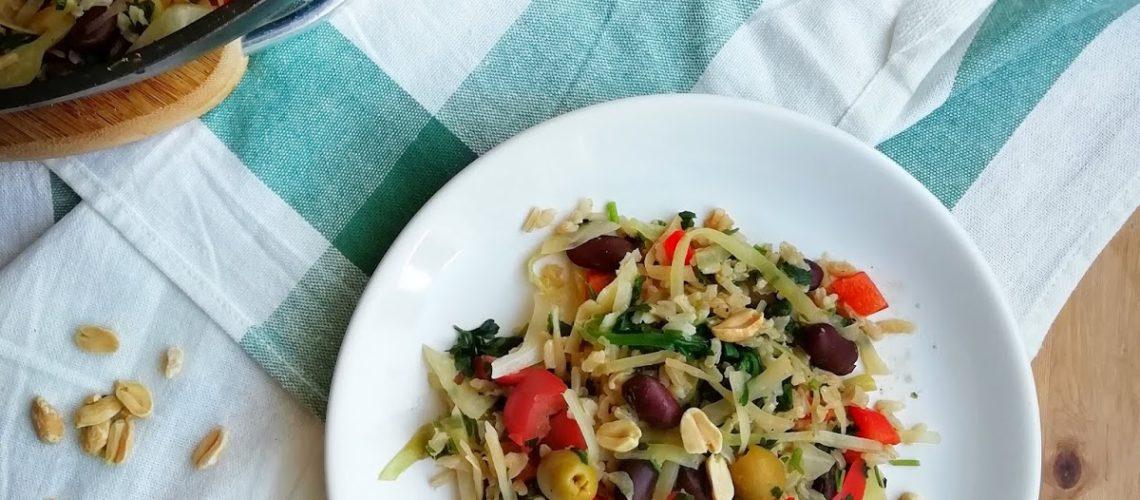 Warzywna potrawka z brązowym ryżem