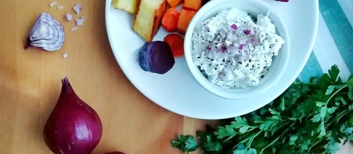Pieczone warzywa korzeniowe z gzikiem