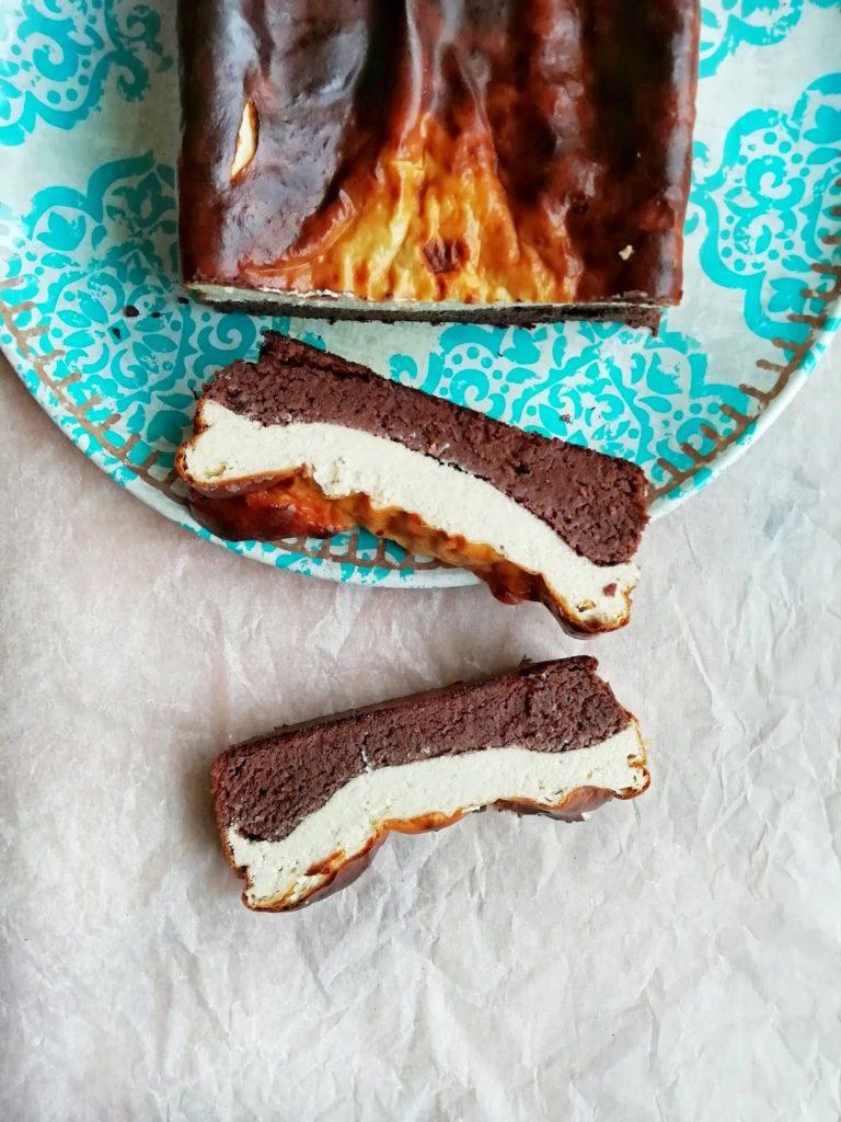 Zdrowe serniko - brownie bez białego cukru i mąki