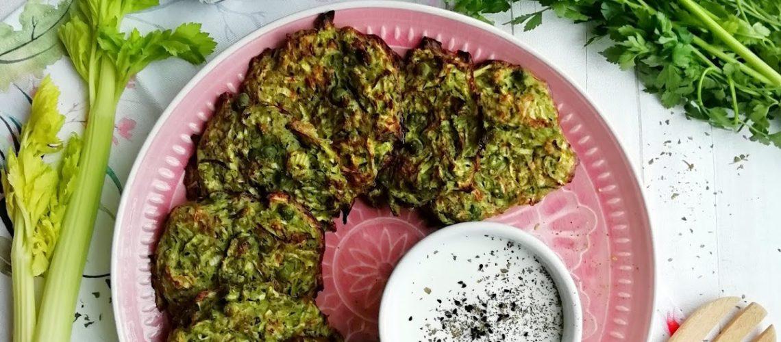 Zielone placki warzywne z piekarnika