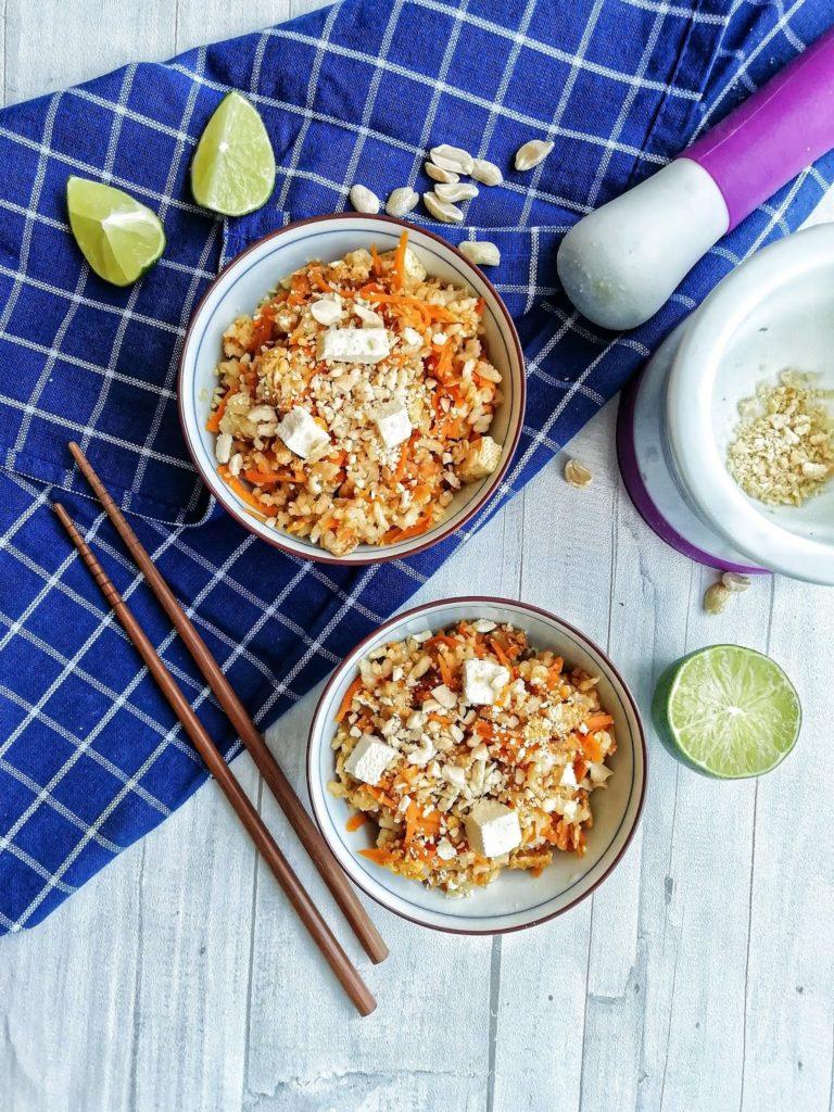 Tajski ryż w stylu pad thai