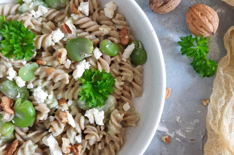 Pesto z bobu i orzechów włoskich