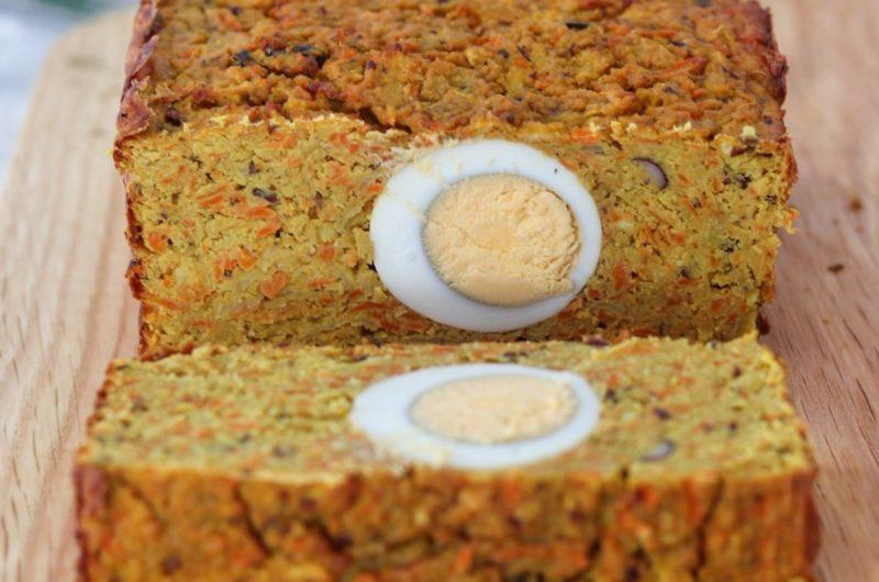 Pasztet z ciecierzycy z jajkiem